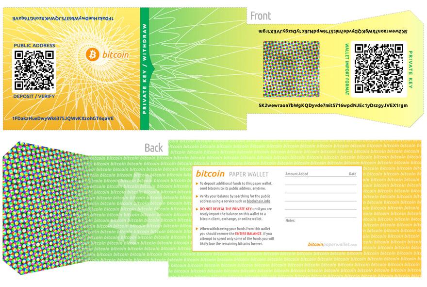 Novčanik generiran na stranici bitcoinpaperwallet.