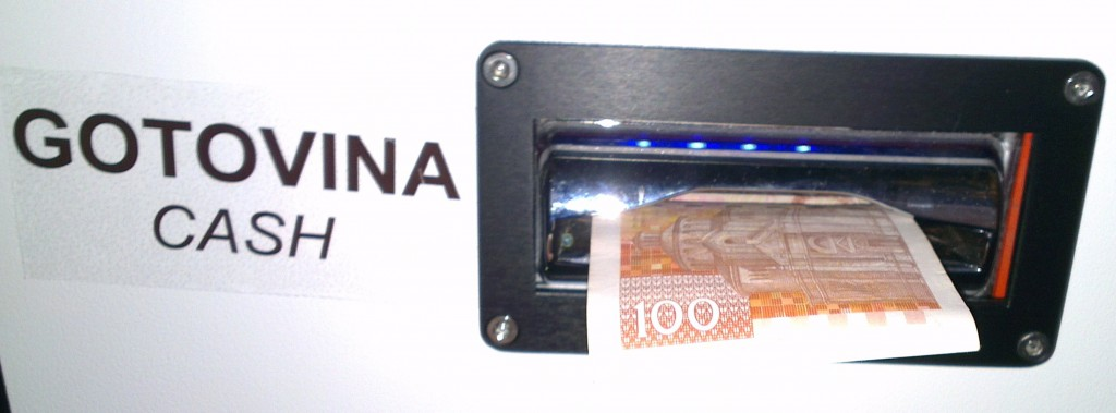Umetanje novčanice
