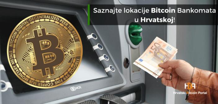 Koje su lokacije Bitcoin bankomata u Hrvatskoj?
