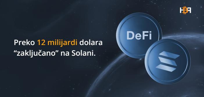 TVL za DeFi na Solana blockchainu dosegao ATH